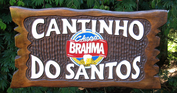 Cantinho do Santos - Placa para churrasqueira