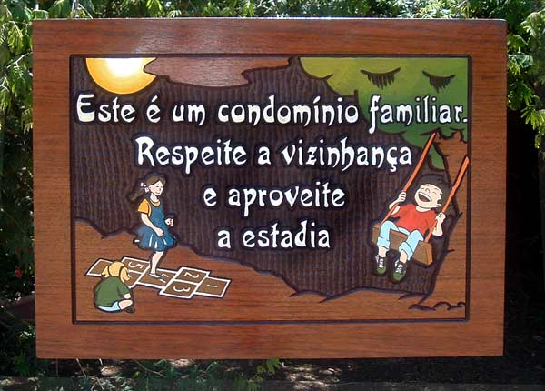 Placa para o playground do Condomínio Spring Valley - Porto Feliz (SP)